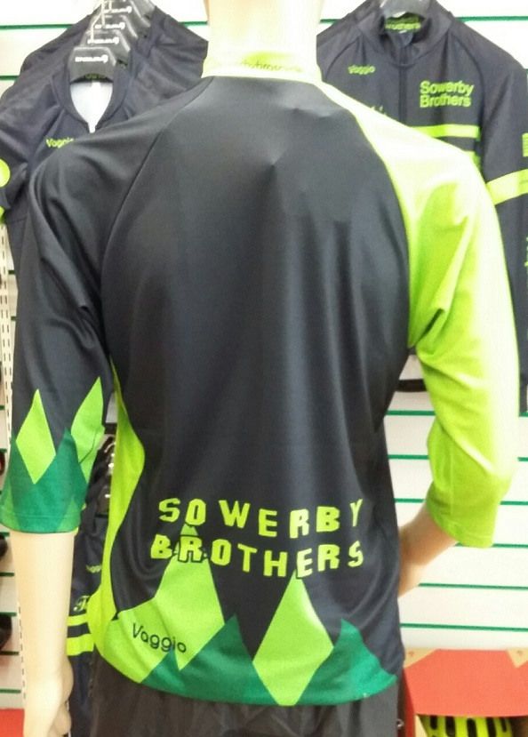 sowerby brothers 3/4 sleeve mountain jersey rear