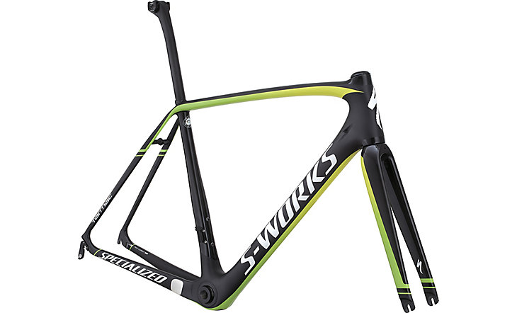 Specialized S Works Tarmac Frameset Gloss Carbon-Monster Green-White