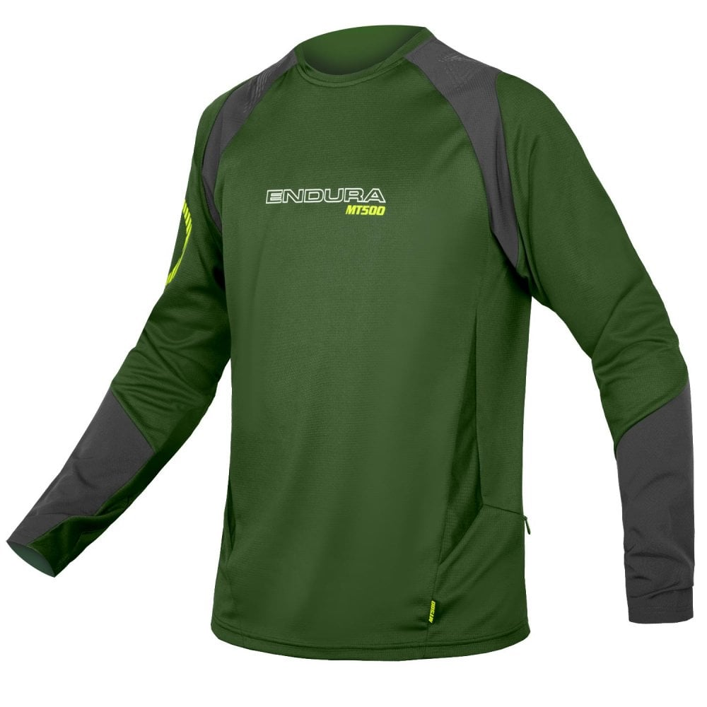 Endura MT500 Burner jersey L/sleeve green