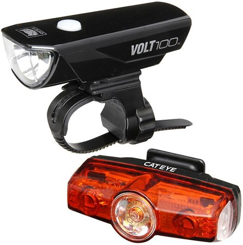 Cateye volt 100+Rapid mini light set